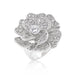 Rings Large Flower Cubic Zirconia Cocktail Ring angelucci-jewelry