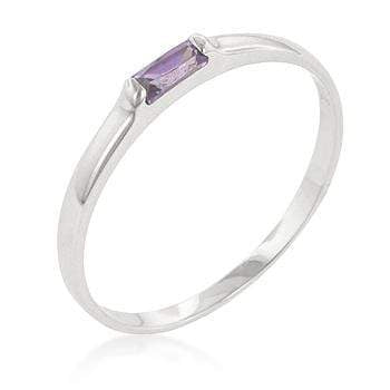 Rings Lavender Petite Solitaire Ring angelucci-jewelry