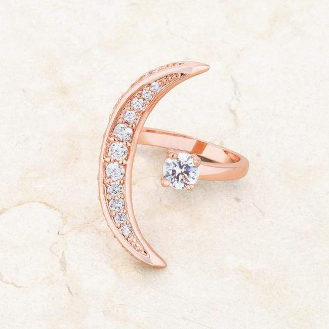 Rings Luna .75ct CZ Rose Gold Delicate Ring angelucci-jewelry