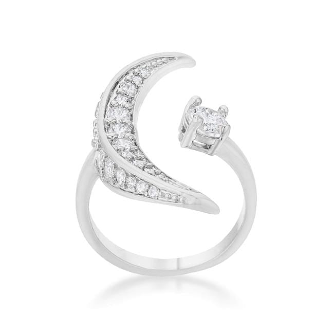 Rings Luna .75ct CZ White Gold Rhodium Delicate Ring angelucci-jewelry