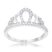 Rings Madeline 0.2ct Rhodium Simple Crown Ring angelucci-jewelry