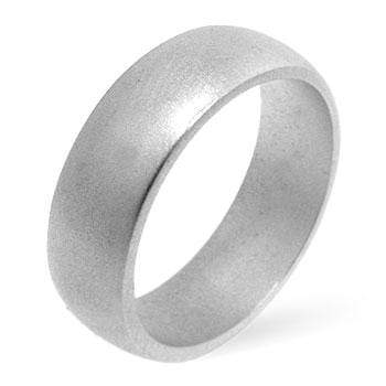 Rings Matte Silver Wedding Band angelucci-jewelry