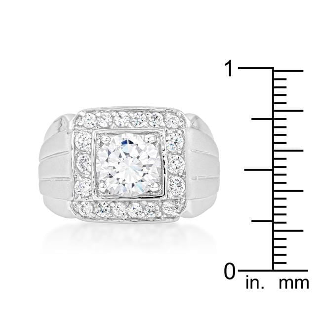 Rings Mens Two-tone Finish Cubic Zirconia Ring angelucci-jewelry