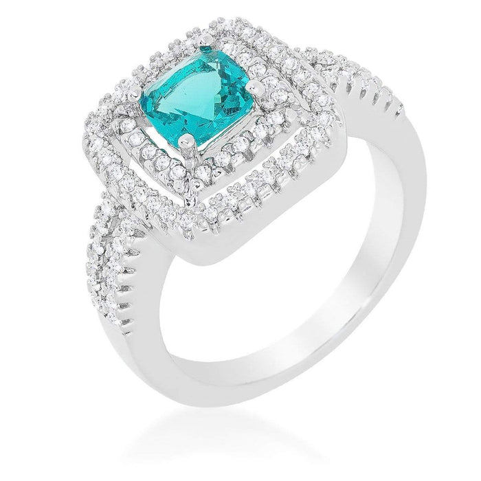 Rings Micro-Pave Aqua Vintage Ring angelucci-jewelry