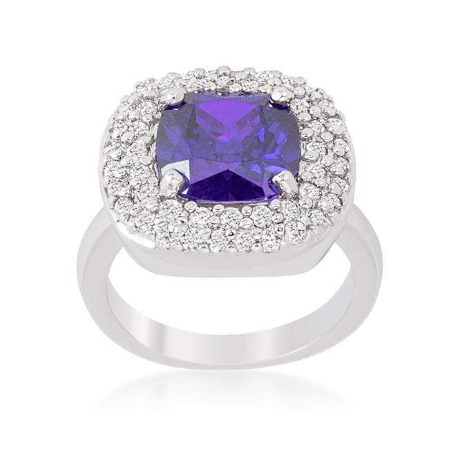 Rings Micropave Purple Bridal Cocktail Ring angelucci-jewelry