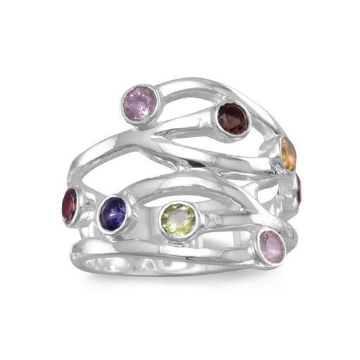 Rings Multistone Open Design Ring angelucci-jewelry