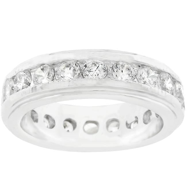 Rings New England Eternity Ring in Rhodium Plated angelucci-jewelry