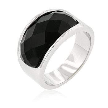 Rings Onyx Block Cocktail Ring angelucci-jewelry