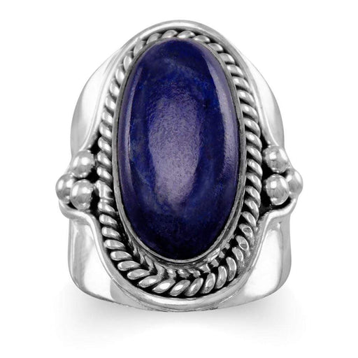 Rings Oxidized Lapis Ring angelucci-jewelry
