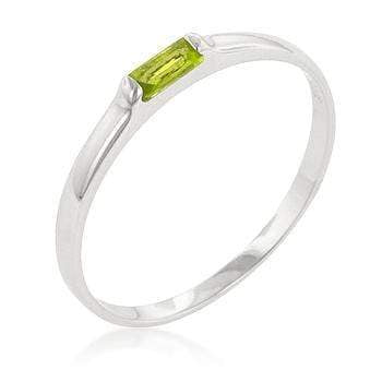 Rings Peridot Petite Solitaire Ring angelucci-jewelry