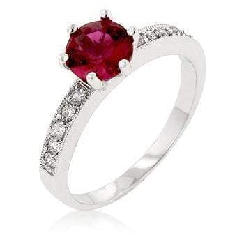 Rings Petite Garnet Red Engagement Ring angelucci-jewelry