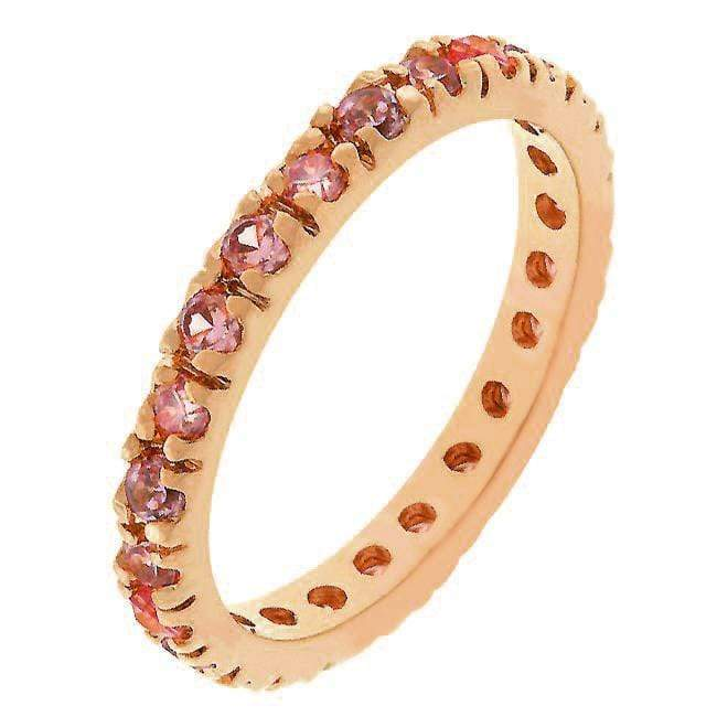 Rings Pink Cubic Zirconia Eternity Ring angelucci-jewelry