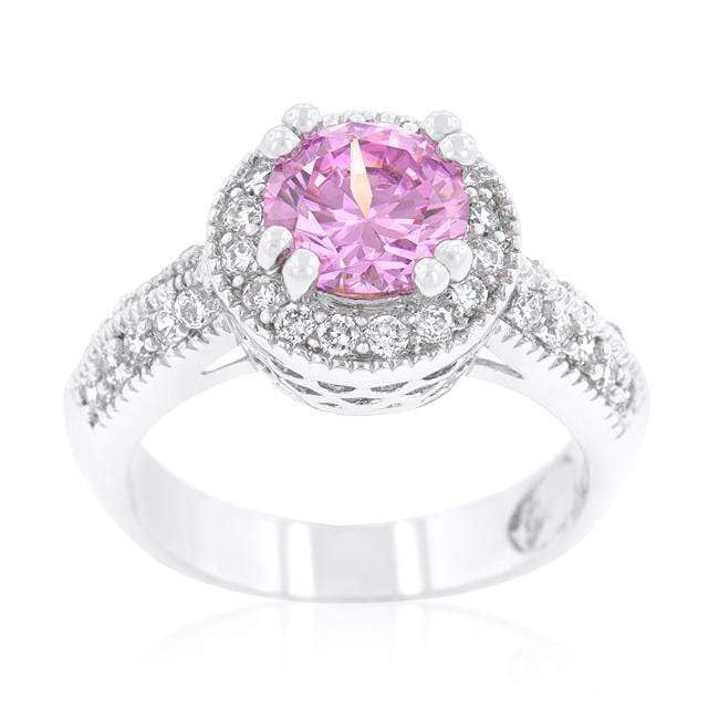 Rings Pink Halo Engagement Ring angelucci-jewelry