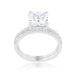 Rings Princess Solitaire Wedding Set Ring angelucci-jewelry