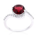 Rings Red Swirling Engagement Ring angelucci-jewelry