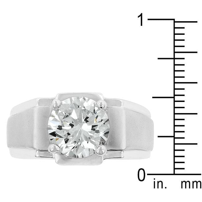 Rings Regal Mens Cubic Zirconia Ring angelucci-jewelry