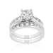Rings Rhodium Plated Stackable Ring Set angelucci-jewelry