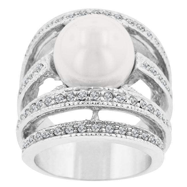 Rings Right-Hand Pearl Ring angelucci-jewelry