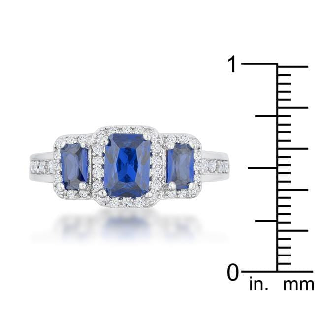 Rings Rita 2.3ct Sapphire CZ Rhodium Classic Trio Ring angelucci-jewelry