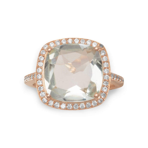 Rings Rose Gold Prasiolite Ring angelucci-jewelry
