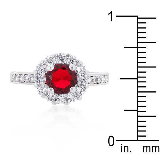 Rings Ruby Red Halo Engagement Ring angelucci-jewelry
