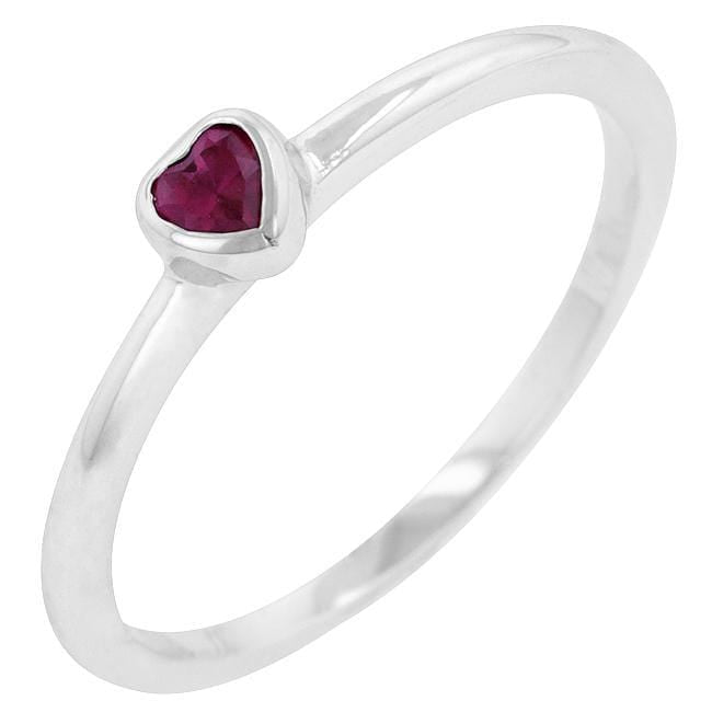 Rings Ruby Red Heart Solitaire Ring angelucci-jewelry