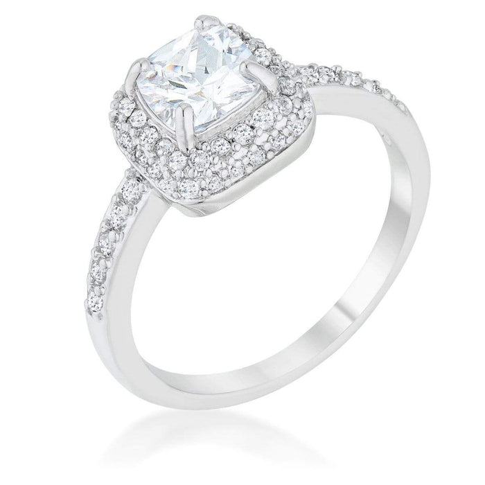 Rings Serena 1.5ct Clear CZ Rhodium Art Deco Ring angelucci-jewelry
