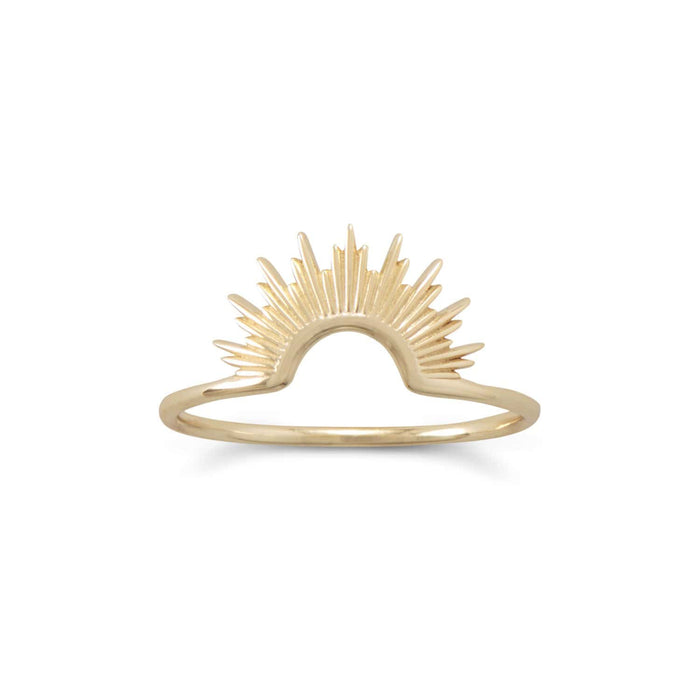 "Rings ""Shine On!"" 14 Karat Gold Sunburst Ring angelucci-jewelry"