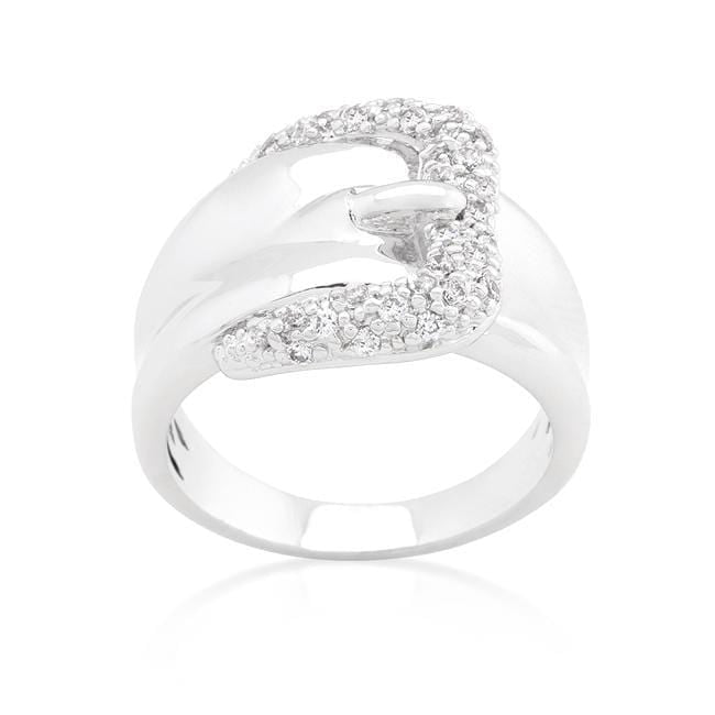 Rings Simple Cubic Zirconia Belt Ring angelucci-jewelry