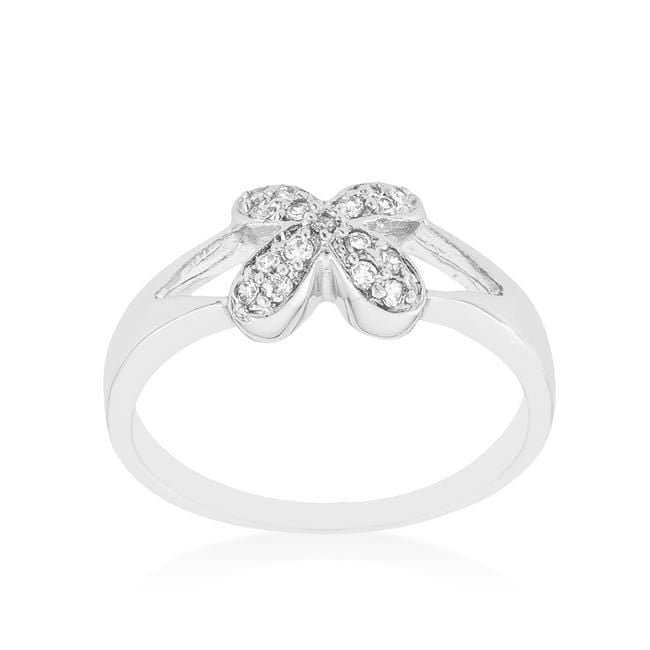 Rings Simple Flower CZ Ring angelucci-jewelry