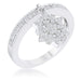 Rings Snowflake 0.35ct CZ Rhodium Simple Holiday Charm Band Ring angelucci-jewelry