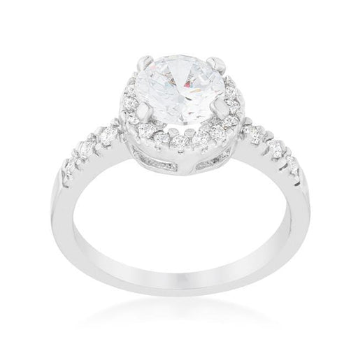 Rings Solitaire Engagement Ring With Pave Halo angelucci-jewelry