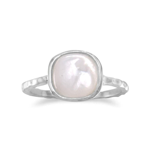 Rings Square Mother of Pearl Ring angelucci-jewelry
