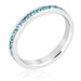 Rings Stylish Stackables Aquamarine Crystal Ring angelucci-jewelry