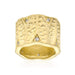 Rings Textured Organic Matte Golden Eternity Ring angelucci-jewelry