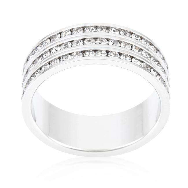 Rings Triple Row Crystal Eternity Band angelucci-jewelry
