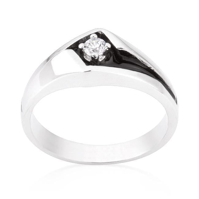 Rings Two-Tone Sleek Mens Ring angelucci-jewelry
