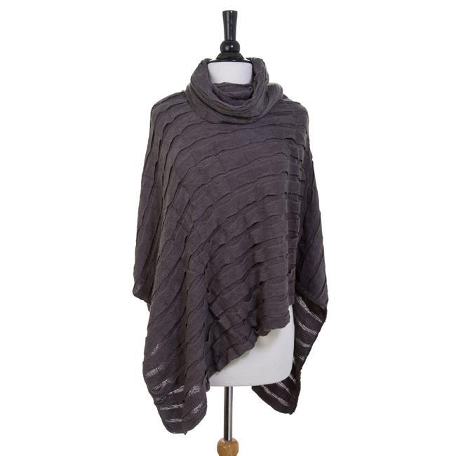 Scarves London Grey Poncho angelucci-jewelry