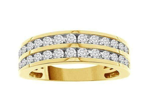 SimpleProduct LADIES BAND 1 CT ROUND DIAMOND 14K YELLOW GOLD angelucci-jewelry