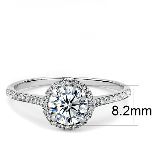 Super Petite Round Halo CZ Engagement Ring angelucci-jewelry