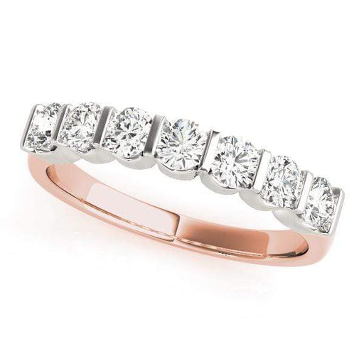 Wedding Bands 1 / 14kt / Pink Wedding Bands Bar Set angelucci-jewelry
