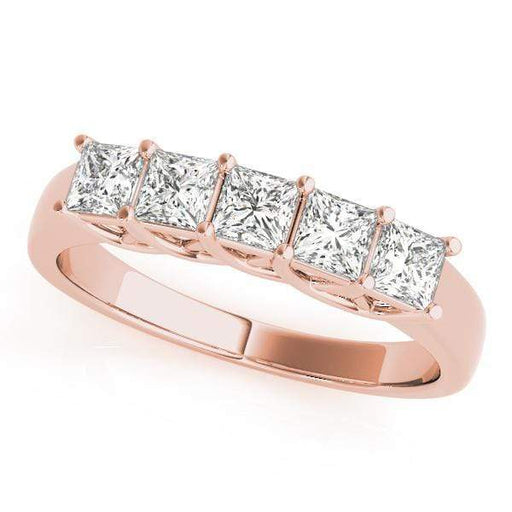 Wedding Bands 1 / 14kt / Pink Wedding Bands Fancy Shape Princess angelucci-jewelry