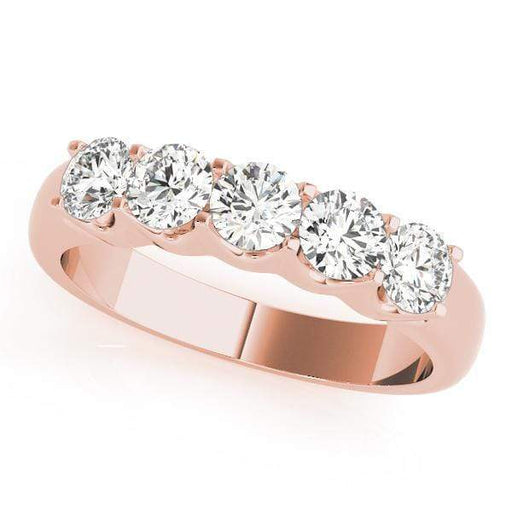 Wedding Bands 1 / 14kt / Pink Wedding Bands Prong Set angelucci-jewelry