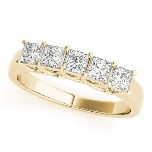 Wedding Bands 1 / 14kt / Yellow Wedding Bands Fancy Shape Princess angelucci-jewelry