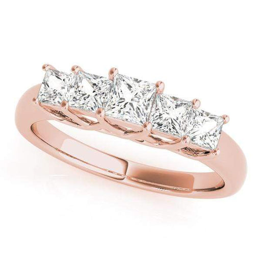 Wedding Bands 1/2 / 14kt / Pink Wedding Bands Fancy Shape Princess angelucci-jewelry