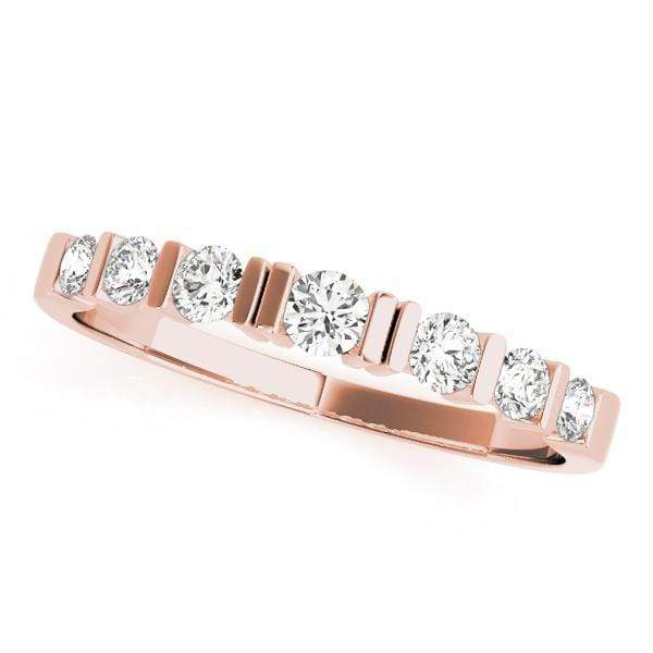 Wedding Bands 14kt / Pink Wedding Bands Bar Set angelucci-jewelry