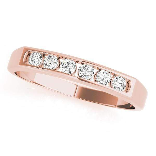 Wedding Bands 14kt / Pink Wedding Bands Channel Set angelucci-jewelry