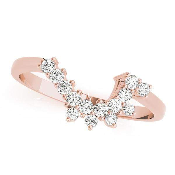 Wedding Bands 14kt / Pink Wedding Bands Curved Bands angelucci-jewelry