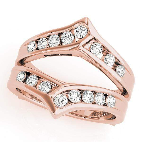 Wedding Bands 14kt / Pink Wedding Bands Wraps & Inserts angelucci-jewelry