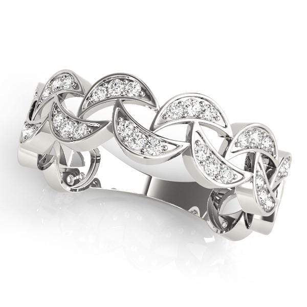 angelucci-jewelry-1/4-Carat Round Brilliant Shape Cluster-Set Stackable Diamond Wedding Ring